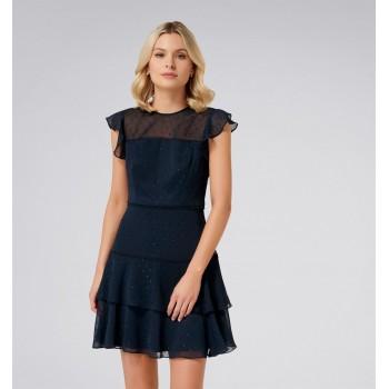 Forever New Women Party Wear Navy Blue Dress
