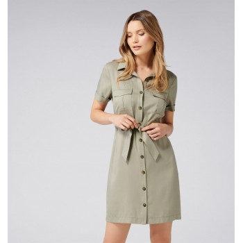 Forever New Women Party Wear Olive Dress