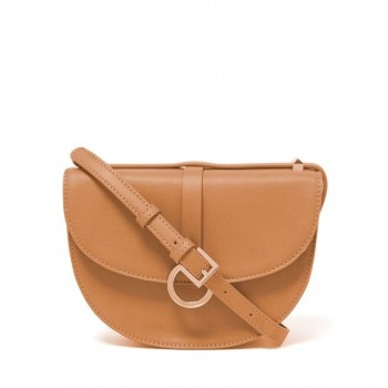 Forever New Women's Tan Saddle Bag with Non Detachable Shoulder Strap