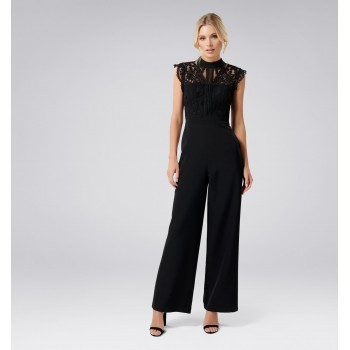 Forever New Women Party Wear Black Jump Suit