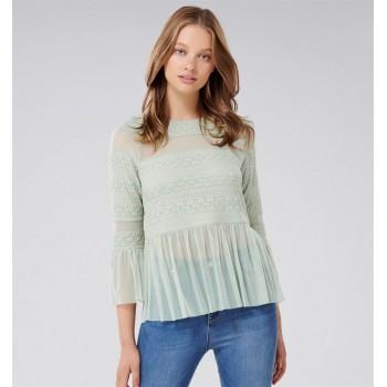 Forever New Women Casual Wear Light Green Top