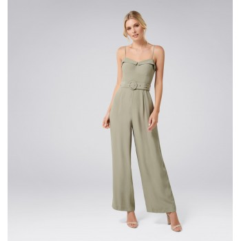 Forever New Women Party Wear Light Green Jump Suit