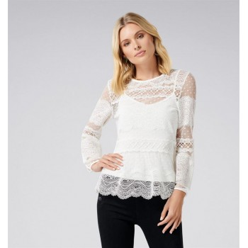 Forever New Women Casual Wear White Top
