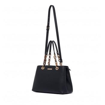 Forever New Women's Black Shoulder Bag with Detachable Shoulder Strap