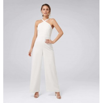 Forever New Women Party Wear White Jump Suit
