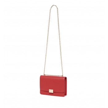 Forever New Women's Red Sling Bag with Non Detachable Shoulder Chain