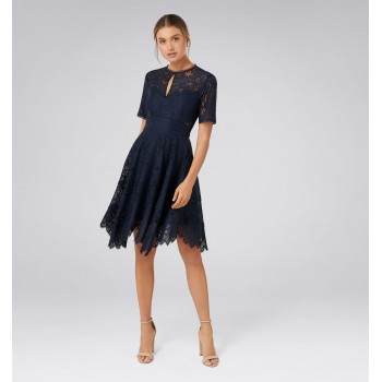 Forever New Women Party Wear Navy Blue Dress
