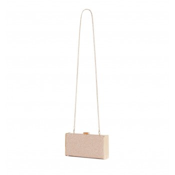 Forever New Women's Pink Box Clutch with Detachable Shoulder Chain