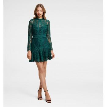 Forever New Women Party Wear Green Dress