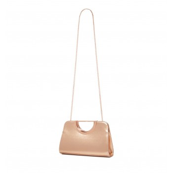 Forever New Women's Golden Sling Bag with Detachable Chain