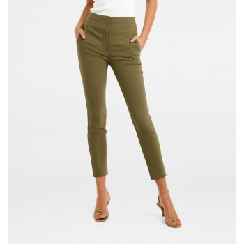 Forever New Women Casual Wear Olive Trouser