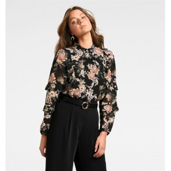 Forever New Women Casual Wear Black Top