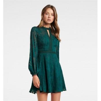 Forever New Women Casual Wear Green Dress