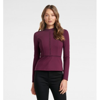 Forever New Women Casual Wear Burgundy Top