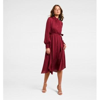 Forever New Women Casual Wear Maroon Dress