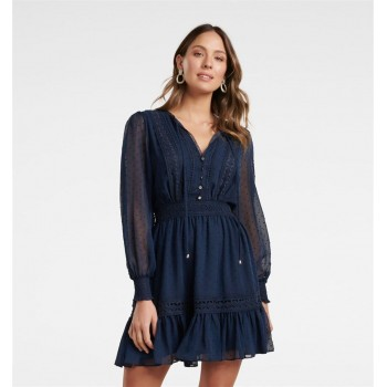 Forever New Women Casual Wear Navy Blue Dress