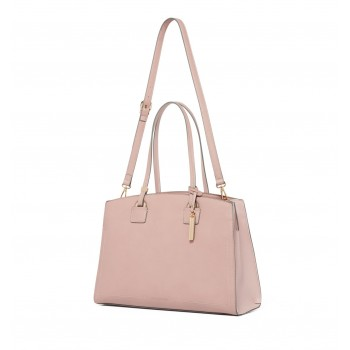 Forever New Women's Pink Laptop Bag with Detachable Shoulder Strap