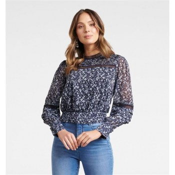 Forever New Women Casual Wear Navy Blue Top