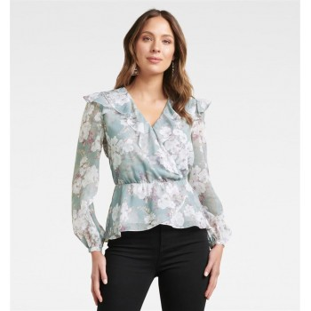 Forever New Women Casual Wear Blue Top