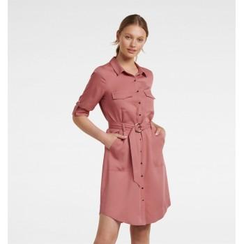 Forever New Women Casual Wear Peach Dress