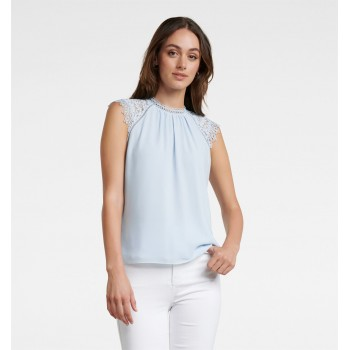 Forever New Women Casual Wear Sky Blue Top