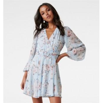 Forever New Women Casual Wear Sky Blue Dress
