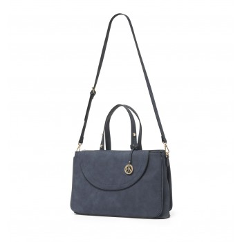 Forever New Women's Blue Laptop Bag with Detachable Shoulder Strap