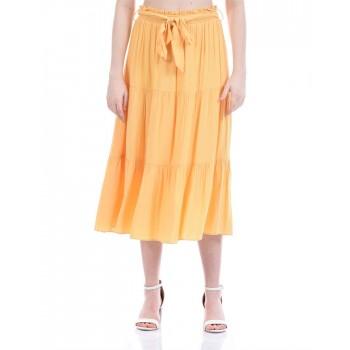 Forever New Women Casual Wear Orange Flared Skirt