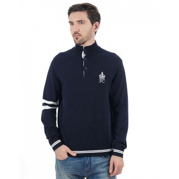 French Connection Men Casual Wear Solid Sweatshirt