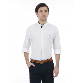 French Connection Men Casual Wear Solid Shirt