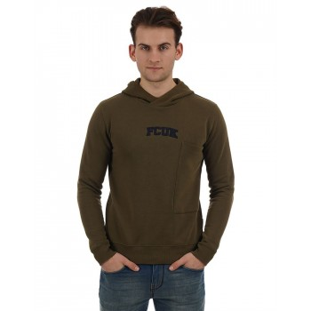 French Connection Casual Wear Solid Men Sweatshirt