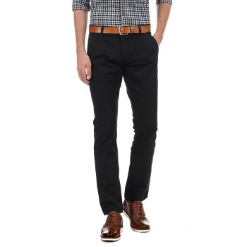 French Connection Men Casual Wear Solid Trousers