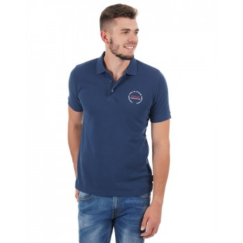 French Connection Men Casual Wear Solid Polo T-Shirt