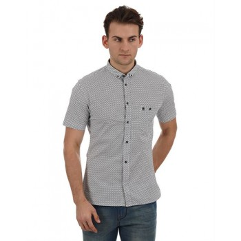 French Connection Casual Wear Printed Men Shirt
