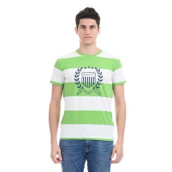 Gant Men Casual Wear Green T-Shirt