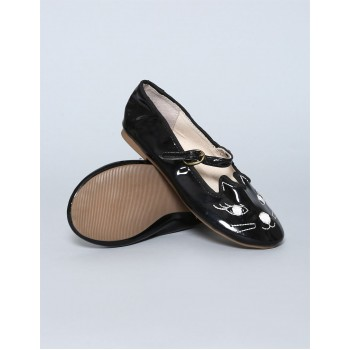 GAP Girls Black Embroidered Shoes