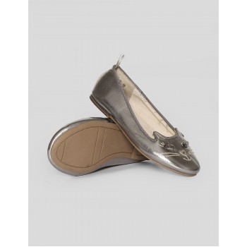 GAP Girls Silver Embroidered Shoes