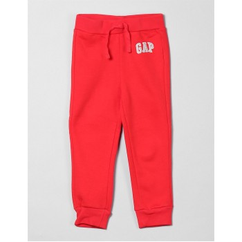 GAP Boys Red Printed Joggers