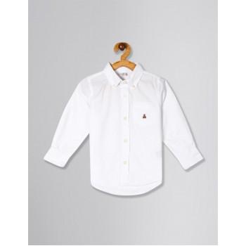 GAP Unisex White Solid Shirt