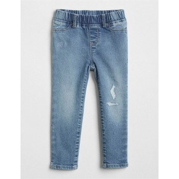 GAP Baby Girl Blue Solid Jeans