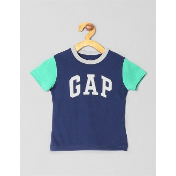 GAP Boys Blue Printed T-Shirt