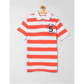 GAP Boys Grey Striped T-Shirt