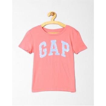 GAP Girls Pink Embellished T-Shirt
