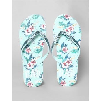 GAP Girls Blue Sequin V-Strap Printed Flip Flops