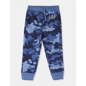GAP Boys Blue Printed Joggers