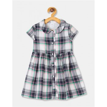 GAP Unisex Blue Checkered Dress