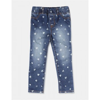 GAP Girls Blue Printed Jeggings