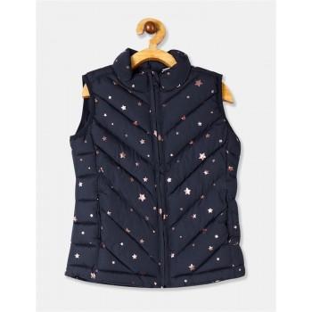 GAP Girls Blue Printed Jacket