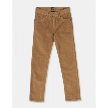 GAP Boys Brown Textured Trousers