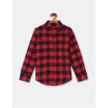 GAP Boys Red Checkered Shirt